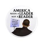 "And Barack Obama - Reader not 3.5"" Button"