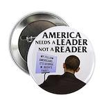"And Barack Obama - Reader not 2.25"" Button (1"