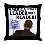 And Barack Obama - Reader not Throw Pillow