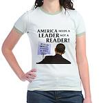 And Barack Obama - Reader not Jr. Ringer T-Shirt