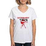 Internet Thug Women's V-Neck T-Shirt