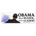 Anti Obama - Obama is a Reade Sticker (Bumper 10 p