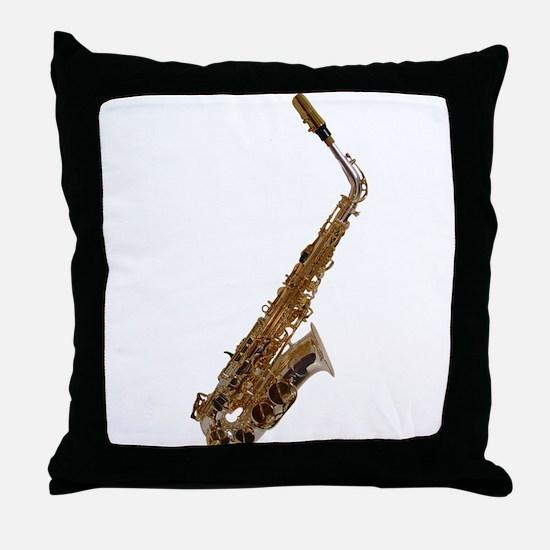 Alto sax Throw Pillow