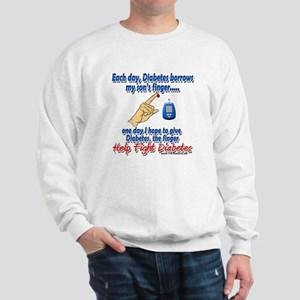 Give Diabetes the finger (son) Sweatshirt
