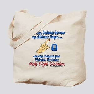 Give Diabetes the finger (kids) Tote Bag