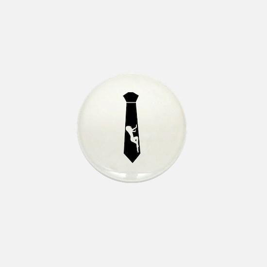 Tie - Woman Mini Button
