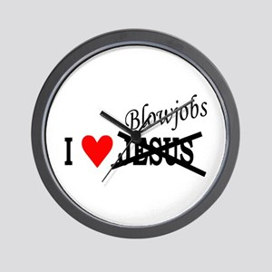 I love Blowjobs Wall Clock