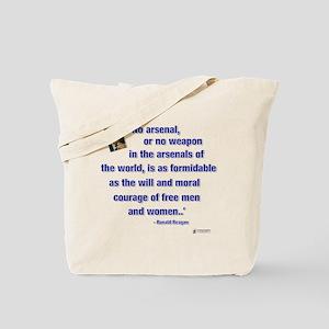 Reagan Courage Tote Bag