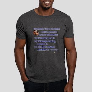 Reagan Govt View of Economy Dark T-Shirt