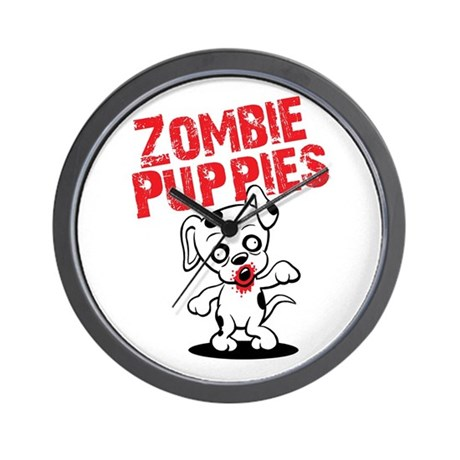 Zombie Puppies Wall Clock