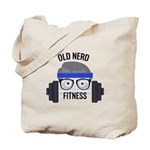 Old Nerd in the Gym Logo Tote Bag
