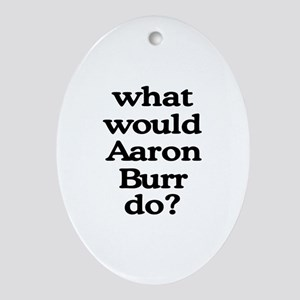 Aaron Burr Oval Ornament