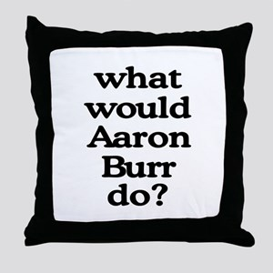 Aaron Burr Throw Pillow