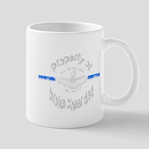 Broke Cheer Dad Blue Mug