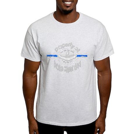 Broke Cheer Dad Blue Light T-Shirt