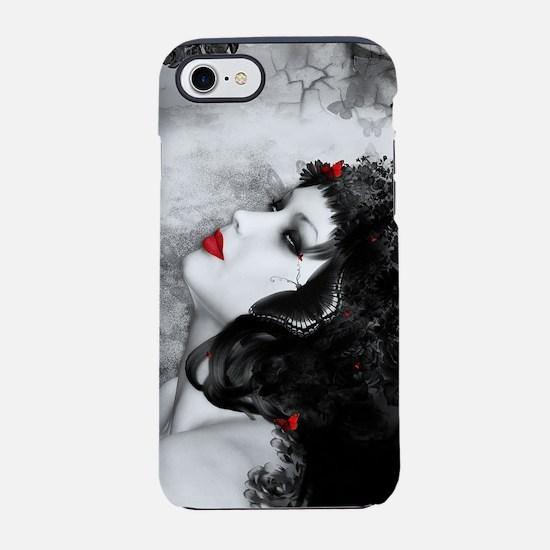 Black Rose Fantasy iPhone 7 Tough Case