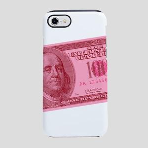 100-dollar-closeup_pink iPhone 7 Tough Case