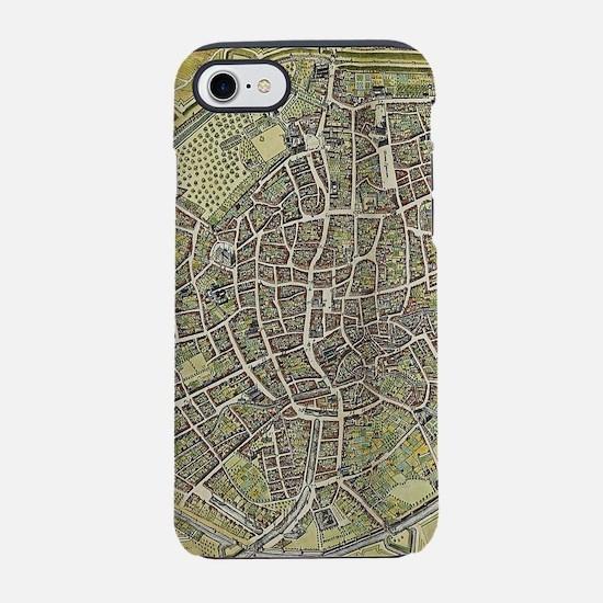 Vintage Map of Brussels Belgiu iPhone 7 Tough Case