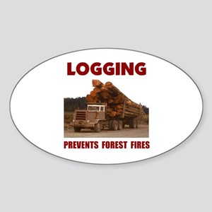 SAVE THE FORESTS Oval Sticker