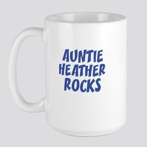 AUNTIE HEATHER ROCKS Large Mug