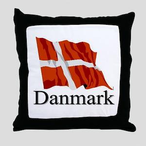 Danmark Flag 1 Throw Pillow