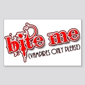 """Bite Me"" Rectangle Sticker"