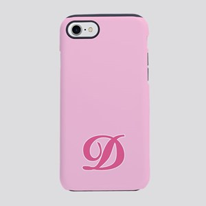 -pink-initial_D_ff iPhone 7 Tough Case
