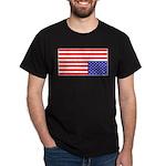 Upsidedown Flag #1 Black T-Shirt
