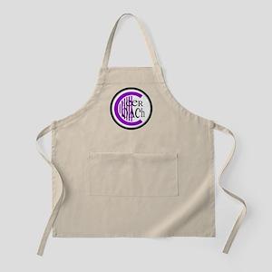 Cheer Coach Circle Purple BBQ Apron