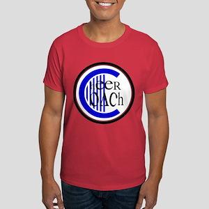 Cheer Coach Circle Blue Dark T-Shirt