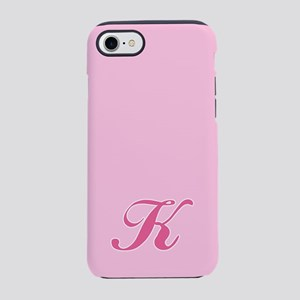 -pink-initial_K_ff iPhone 7 Tough Case