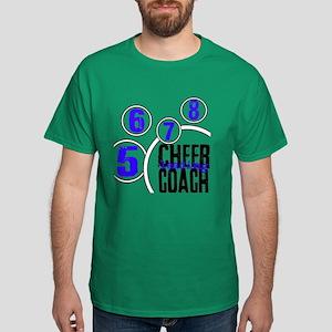 Cheer Coach in Circles Blue Dark T-Shirt