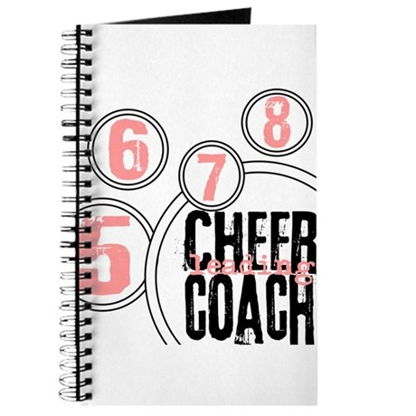 Cheer Coach in Circles Pink Journal