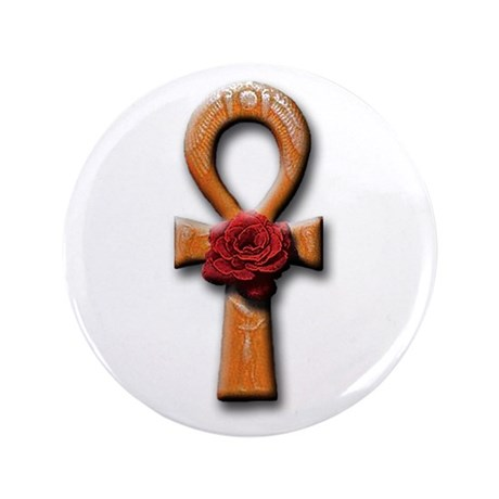 "Ra Rose Ankh 3.5"" Button (100 pack)"