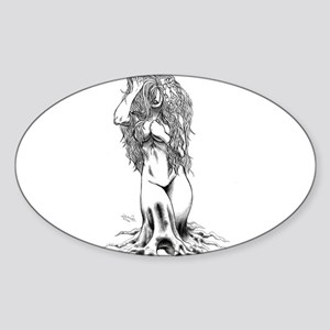 Garden Maiden Oval Sticker