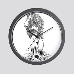 Garden Maiden Wall Clock
