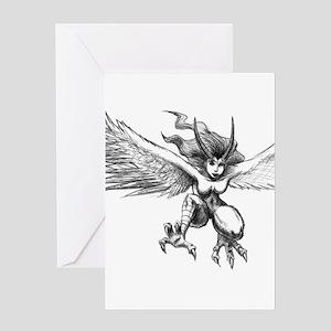Harpie Greeting Card