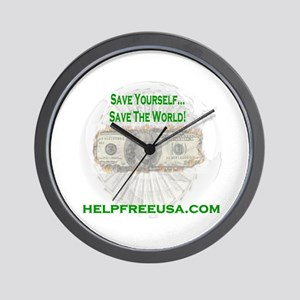 HELPFREEUSA.COM Wall Clock