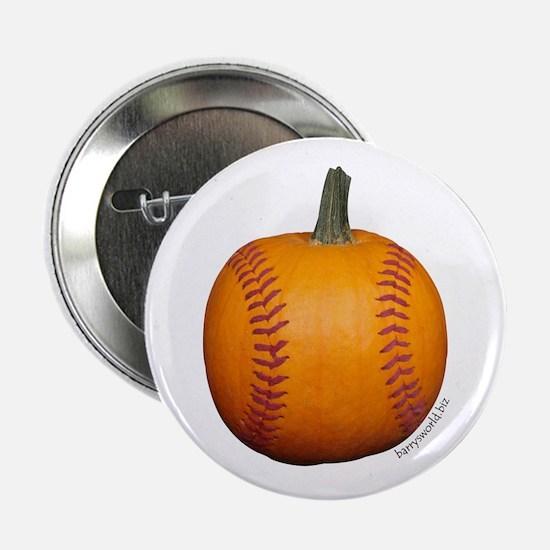 """Baseball Pumpkin 2.25"""" Button (10 pack)"""