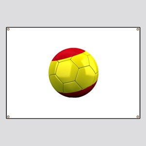 Spanish Soccer Ball Banner