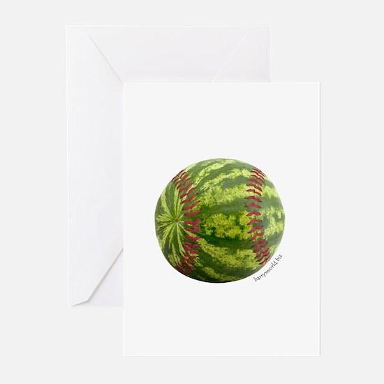 Baseball Melon Greeting Cards (Pk of 20)