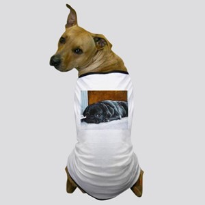 Resting Black Pug Puppy Dog T-Shirt