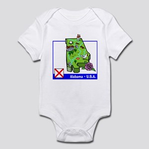 Alabama Map Infant Bodysuit