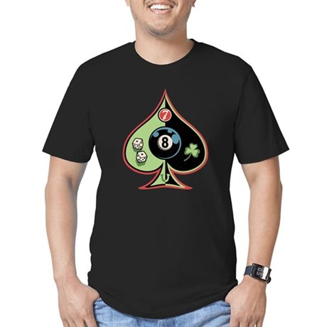 8 of Spades Men's Fitted T-Shirt (dark)