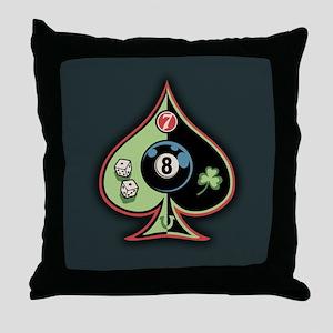 8 of Spades Throw Pillow