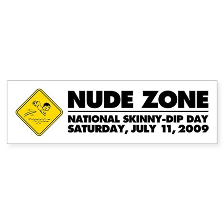 National Skinny-Dip Day Bumper Sticker (10 pk)