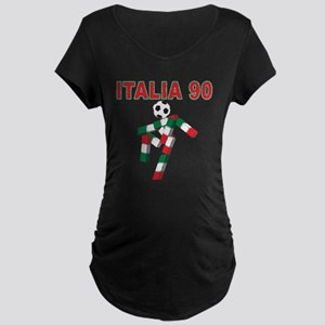 Retro 1990 Italia world cup Maternity Dark T-Shirt