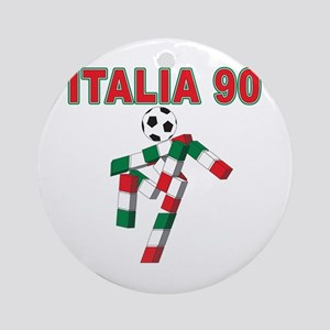 Retro 1990 Italia world cup Ornament (Round)