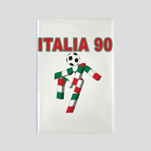 Retro 1990 Italia world cup Rectangle Magnet