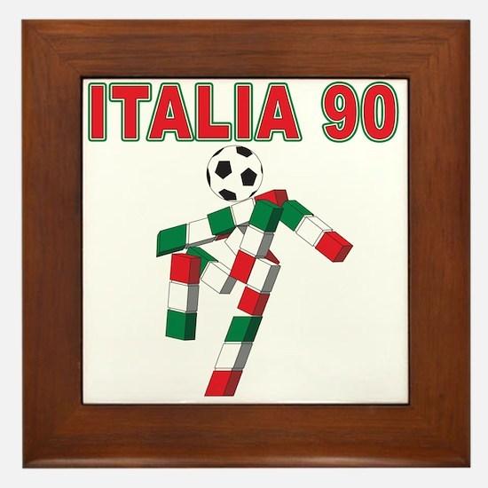 Retro 1990 Italia world cup Framed Tile